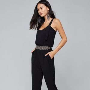 Bebe Bead & Crystal Stretch Belt, Size P/S